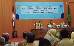 Rapat Koordinasi Bulanan SKPD dan Sosialisasi Si Maya Versi 6 Kota Banjarbaru